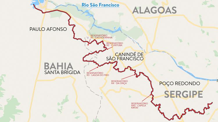 Obras do Canal do Xingó levarão água do São Francisco à Bahia e Sergipe | Portal Brasil
