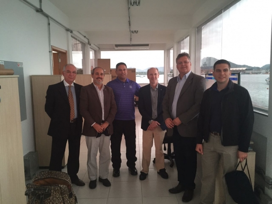 Codesp recebe visita de adidos da defesa americana | Porto de Santos