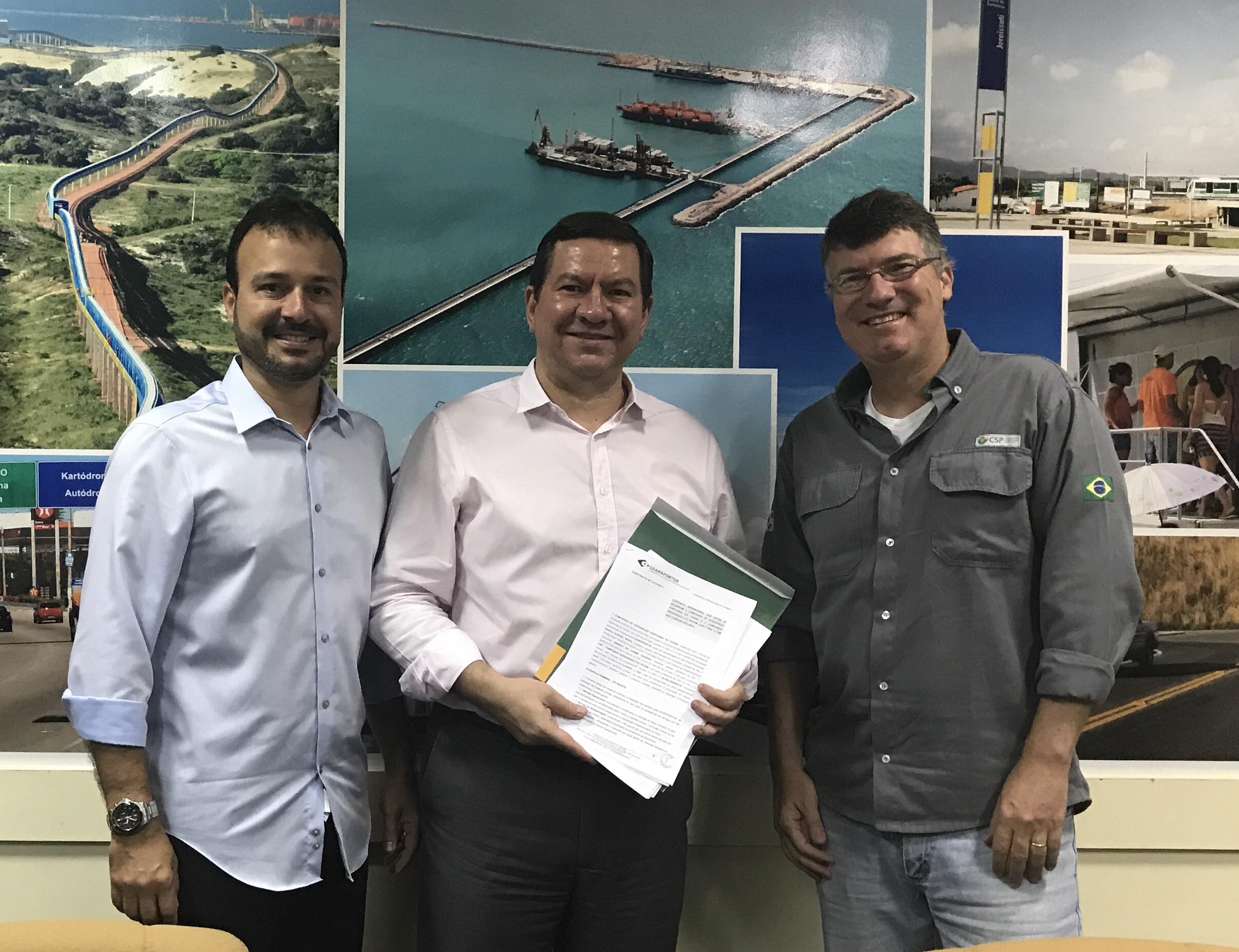 Cearáportos firma contrato com a Siderúrgica do Pecém | CEARAPORTOS